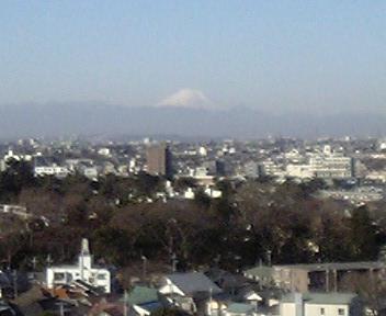 我が家からの富士山